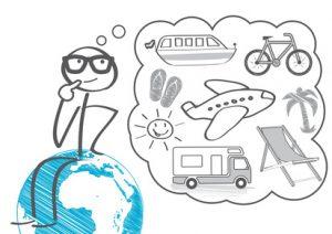urlaub; ferien; sommerferien; sommerurlaub; auszeit erholung; Pause; Liegestuhl; koffer; palmen; reise; reisekoffer; Tourismus; verreisen; Strand; Sonnenbrille; Fernreise; Flugreise; Welt, Erde, Globus, Weltreise, Kreuzfahrt; ReisebŸro; FrŸhbucher; Badeurlaub; icon; sonne; see; segelboot; flugzeug; strichmŠnnchen; mŠnnchen; vektor